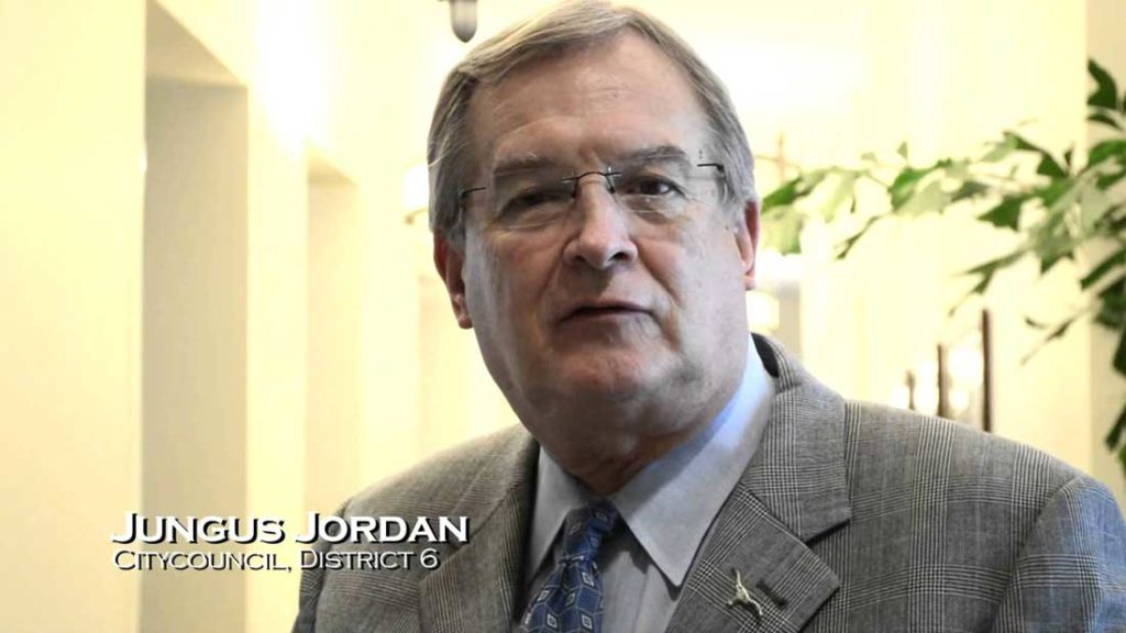 District 6 Councilman Jungus Jordan. Photo from youtube.