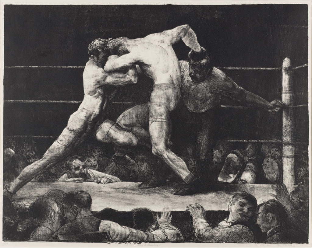 George Bellows (1882-1925); A Stag at Sharkey's; 1917; Lithograph; Amon Carter Museum of American Art, Fort Worth, Texas; 1983.23