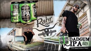 J/O/E poses for a promotional photo for Rahr & Sons' Dadgum IPA. Photo credit: Jeff Wood.