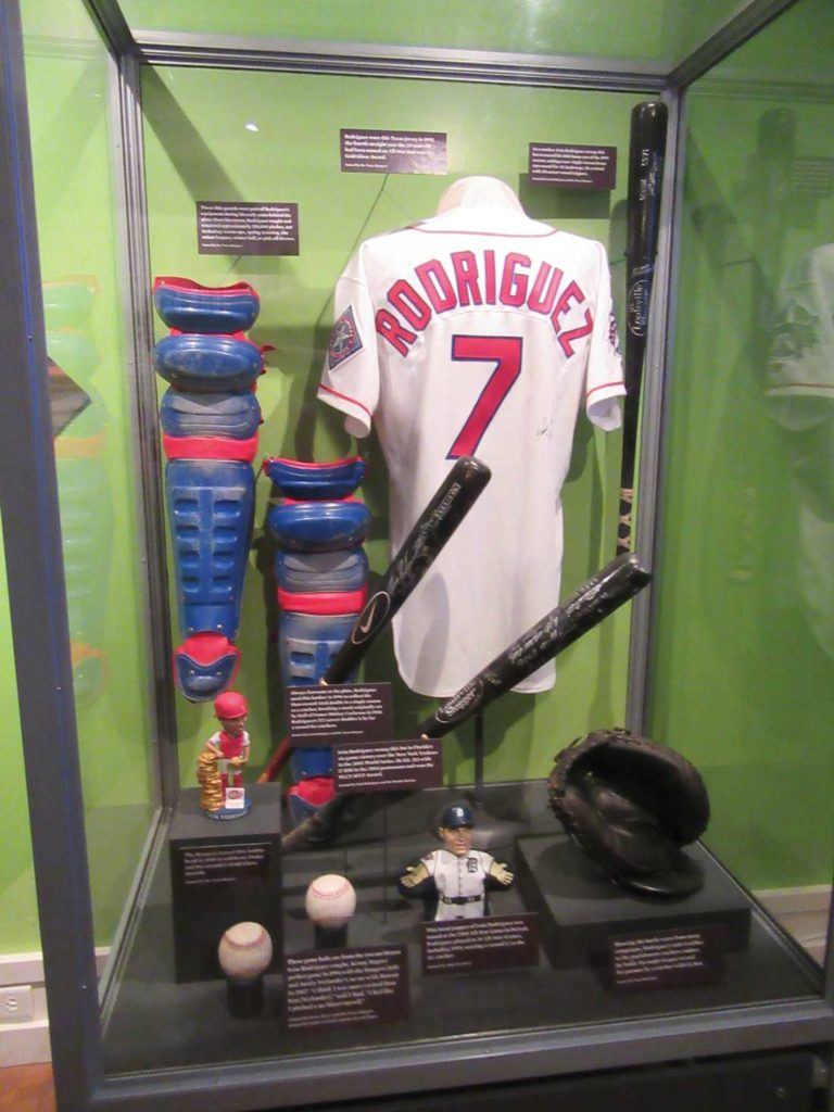 Rodriguez' career highlights are showcased at the Baseball Hall of Fame.