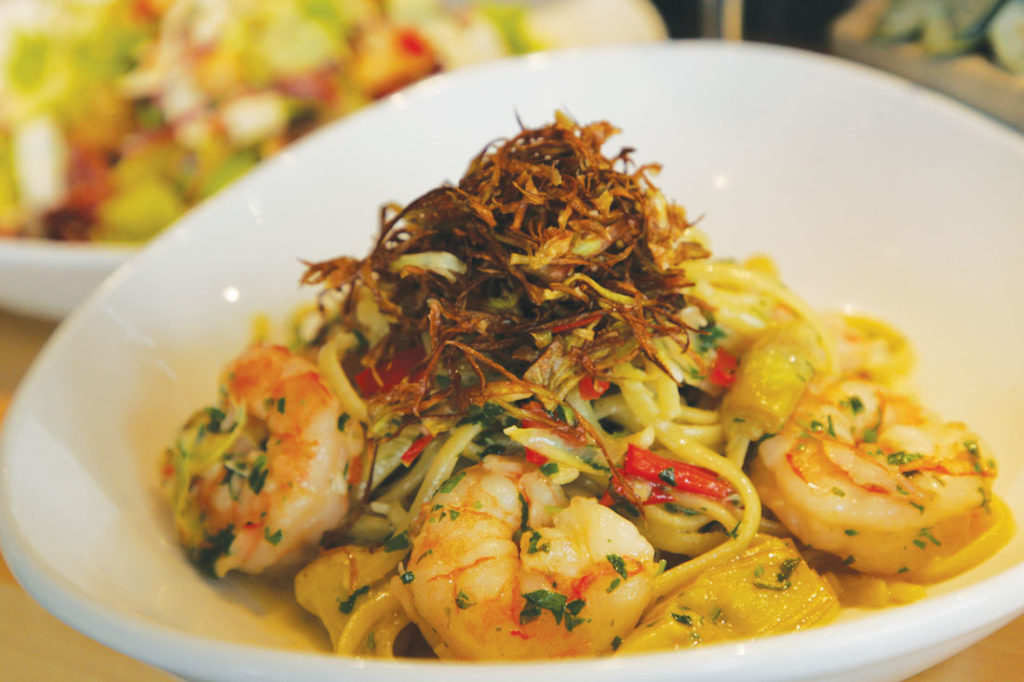 Critics loved Piattello Italian Kitchen's shrimp pasta. Photo by Lee Chastain.