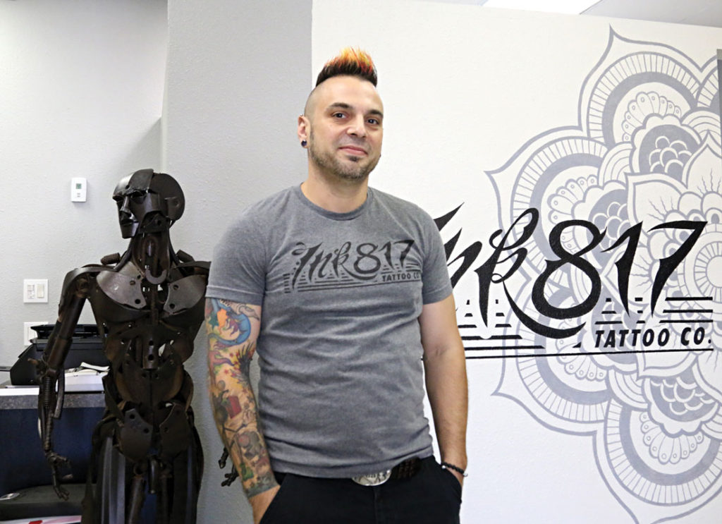 Ink817's Josh Gonzalez boasts 23 years of tattooing experience. Photo by Vishal Malhotra.