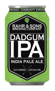 Rahr's Dadgum IPA stole our critic's heart for Best Of honors. Courtesy Rahr & Sons Brewing Company.