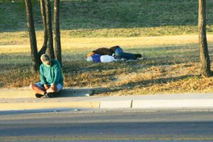 Panhandling has long been a source of ire for Fort Worthians and city councilmembers.   Photo by Lee Chastain.