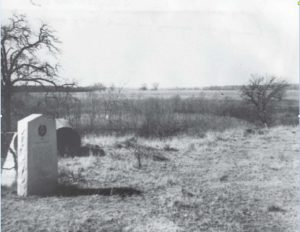 The original Bird's Fort Treaty historical marker was removed to save it from being used as target practice. Courtesy of Viridian