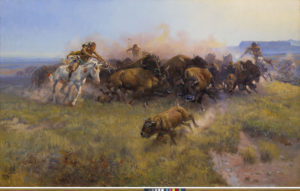 Charles M. Russell (1864-1926); The Buffalo Hunt [No. 39]; 1919; Oil on canvas; Amon Carter Museum of American Art, Fort Worth, Texas; 1961.146