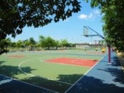 basketball court in Haikou City, China