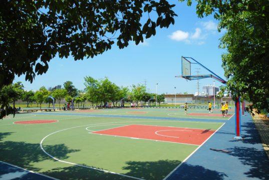 basketball court in Haikou City, China