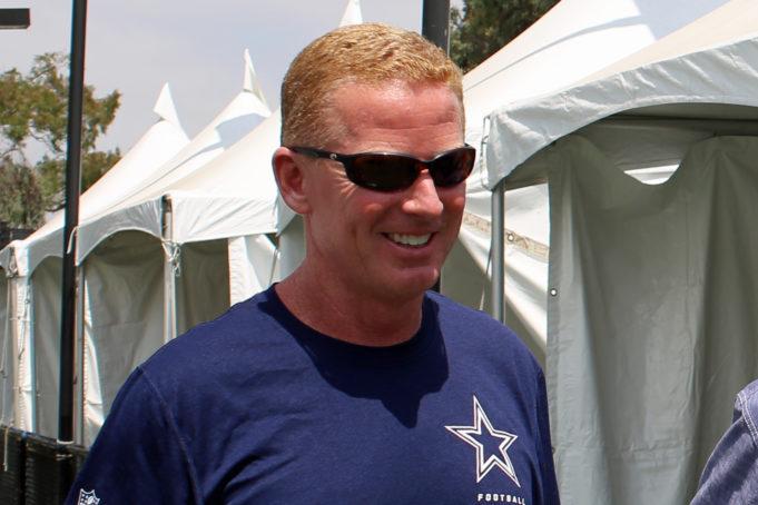 Jason Garrett at Cowboys Training Camp 2017