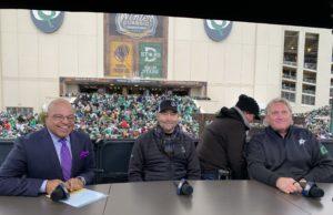Mike Tirico, Ed Belfour,. Craig Ludwig
