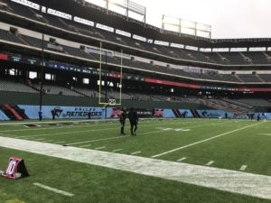 Globe Life Field end zone