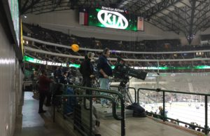 Dallas Stars TV camera