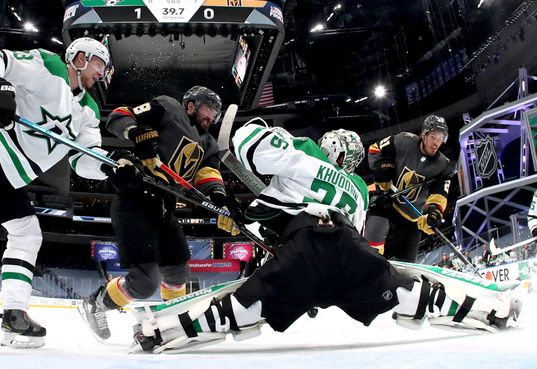 Canucks beat Golden Knights 4-0 to again avoid elimination