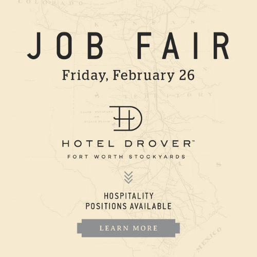 Hotel Drover Job Fair 2.26 Pop Up